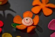 imã flor laranja