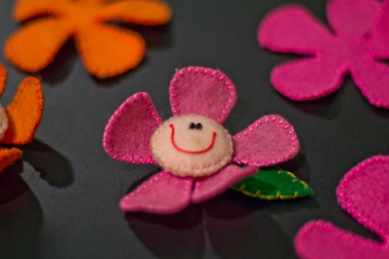 imã flor rosa