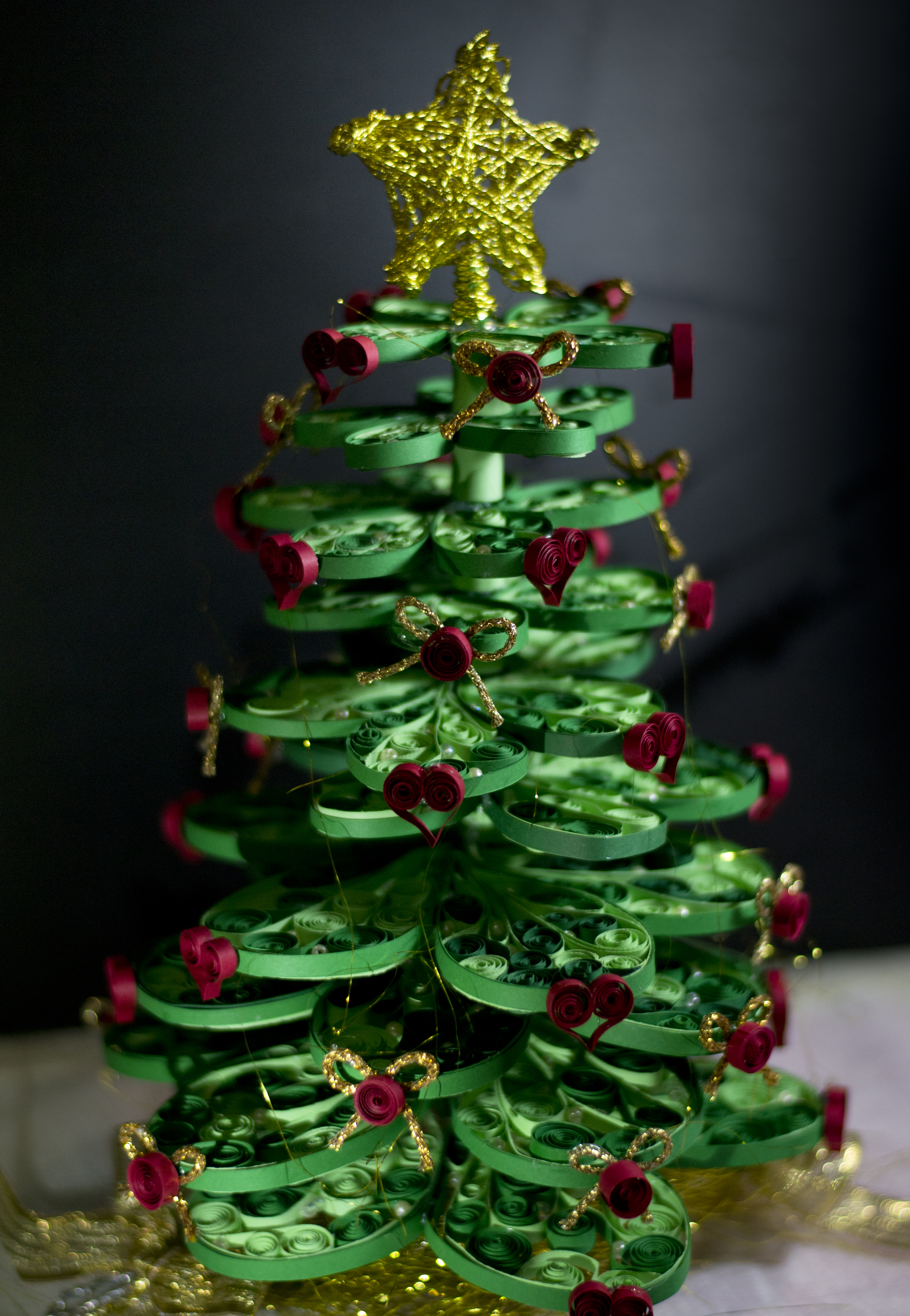Árvore de Natal – Christmas Tree (Quilling) – Patty Rosset