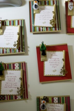 Cartões de Natal com imãs