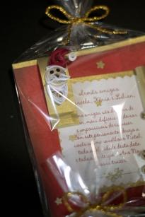 Detalhe - cartão de natal papai noel