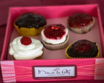 cupcakes de framboesa - detalhe