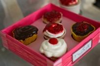 cupcakes de framboesa - coberturas diversas