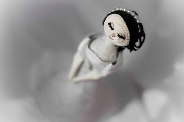 noivinha foto em preto e branco